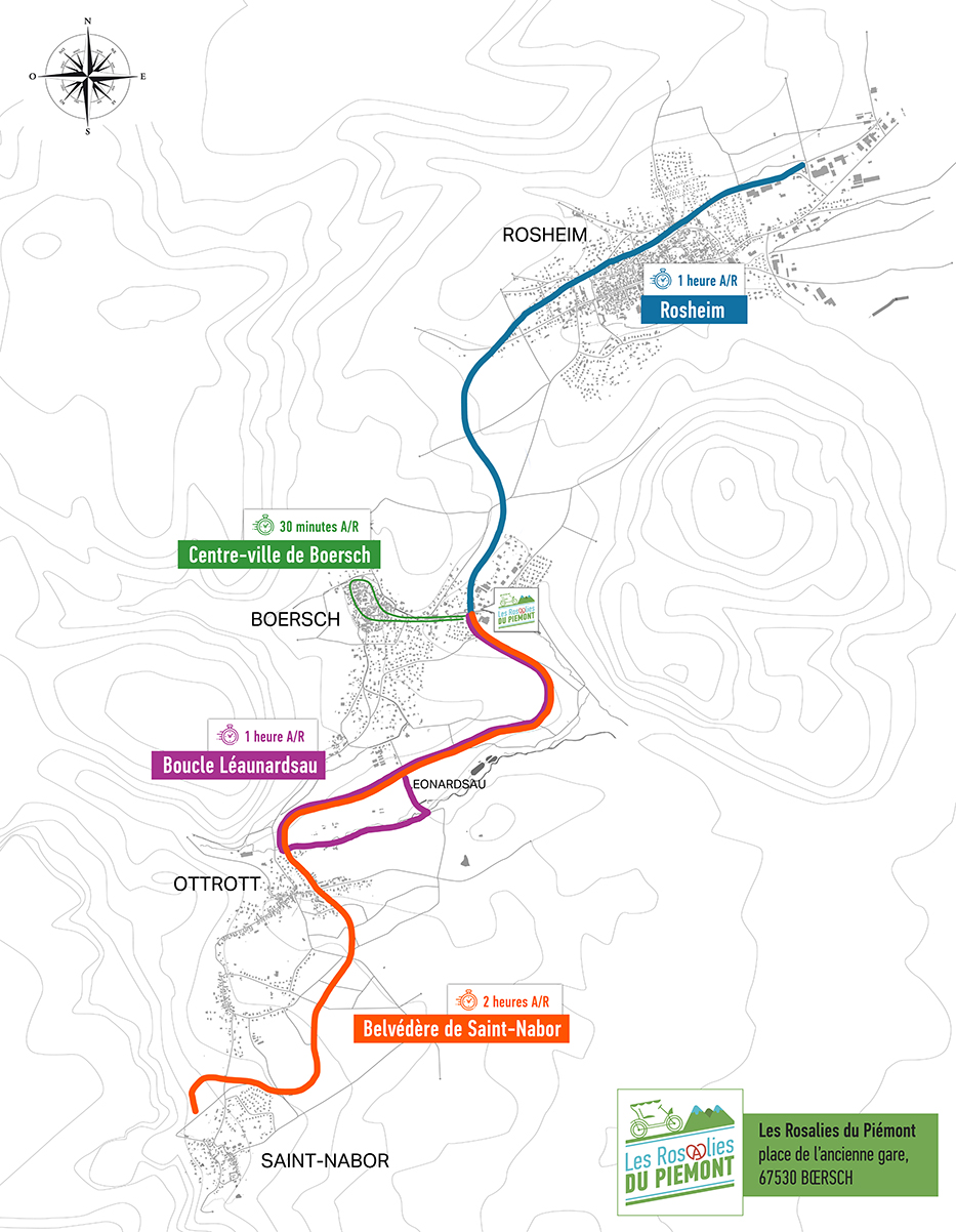 Extrait du plan de la voie verte - Les Rosalies du Piémont