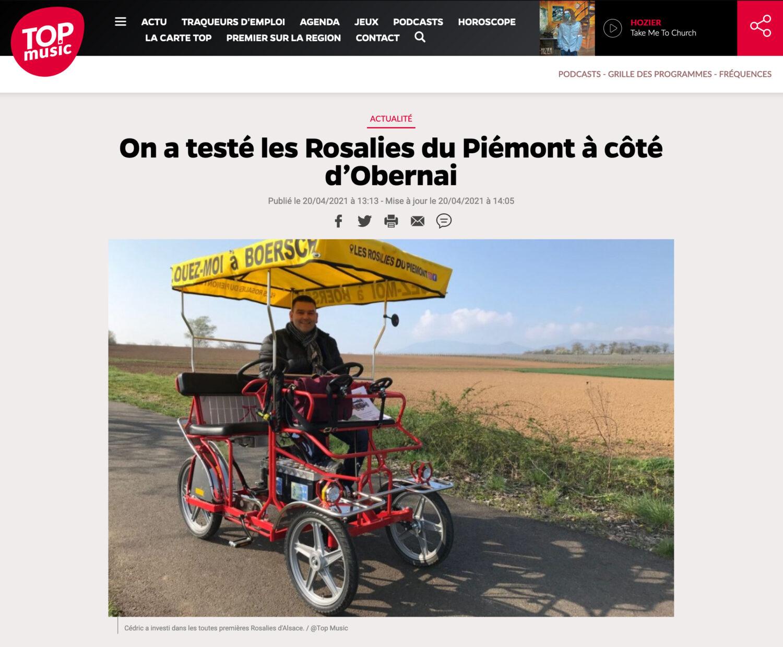 Top Music teste les Rosalies du Piémont à Boersch !